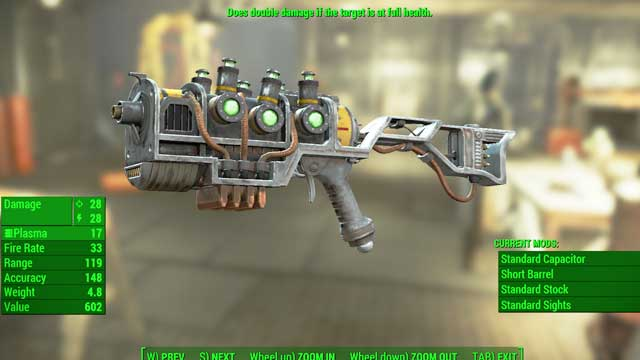 Type: Plasma rifle - Energy weapons - Unique weapons - Fallout 4 Game Guide & Walkthrough