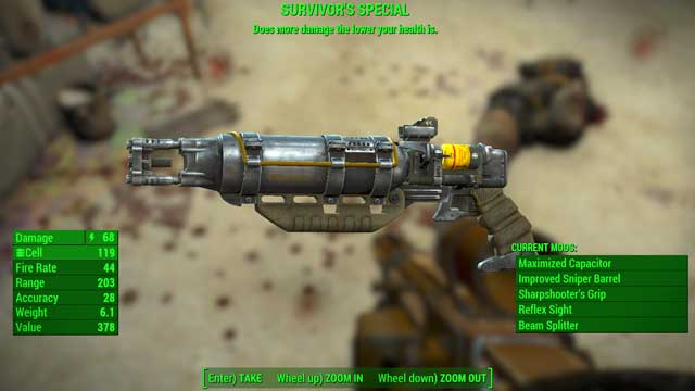 Type: Laser rifle - Energy weapons - Unique weapons - Fallout 4 Game Guide & Walkthrough