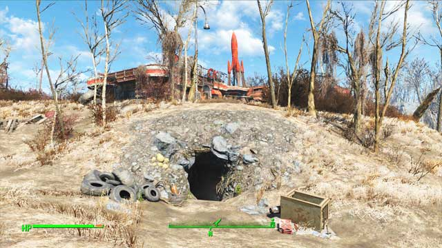 Walk into the lair and turn right after passing through the first tunnel - Where to find core fusions at the beginning of the game? - Power Armor - Fallout 4 Game Guide & Walkthrough