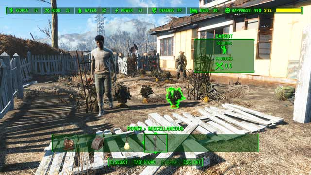 Number of food must be same or higher than number of settlers. - How to get the Benevolent Leader achievement? - Appendix - Fallout 4 Game Guide & Walkthrough