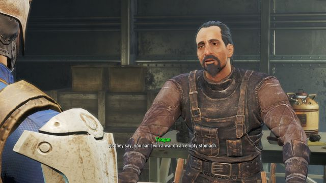 Feeding the troops is one of the random quests of the Brotherhood of Steel - Feeding the Troops - Minor quests for Brotherhood of Steel faction - Fallout 4 Game Guide & Walkthrough