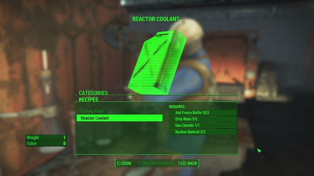 Once you gather all items you must find a chemical workshop - Obtain the reactor coolant for proctor Ingram - Minor quests for Brotherhood of Steel faction - Fallout 4 Game Guide & Walkthrough