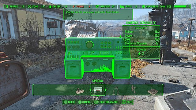The console - The Molecular Level - constructing the signal interceptor (teleporter) - Main story - Fallout 4 Game Guide & Walkthrough