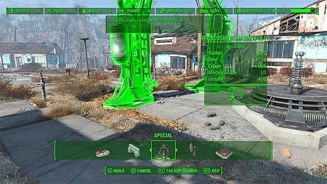 Beam Emitter - The Molecular Level - constructing the signal interceptor (teleporter) - Main story - Fallout 4 Game Guide & Walkthrough