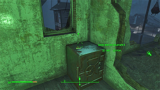 Holotape is lying on a large safe in the corner of the room - Long Time Coming - Nick Valentine - Minor quests for Institute faction - Fallout 4 Game Guide & Walkthrough