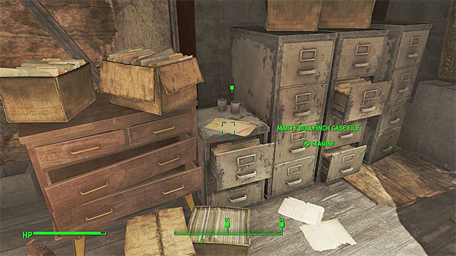 The place where you find the investigation files - The Gilded Grasshopper - Nick Valentine - Minor quests for Institute faction - Fallout 4 Game Guide & Walkthrough