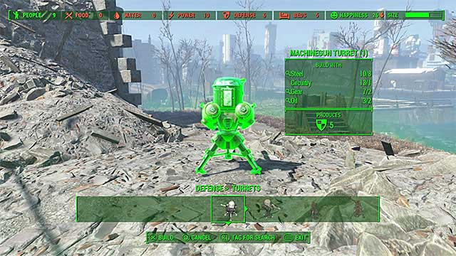 You can, for example, place turrets - Defend the Castle - Major quests for Minutemen faction - Fallout 4 Game Guide & Walkthrough