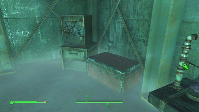 Just after entering the building in the room on the right side you will find a terminal that open the door leading to the southeastern part of the complex - Poseidon Energy (The Glowing Sea) - The Glowing Sea - Sector 8 - Fallout 4 Game Guide & Walkthrough