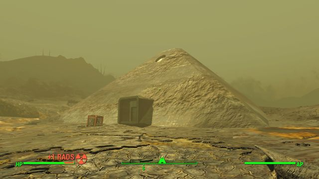 A Giant bunker shaped like a pyramid - Sentinel Site - The Glowing Sea - Sector 8 - Fallout 4 Game Guide & Walkthrough
