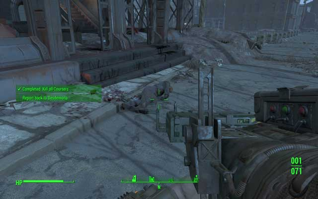 The second courser will be waiting at the entrance to the building - Operation Ticonderoga - Major Quests for Railroad faction - Fallout 4 Game Guide & Walkthrough