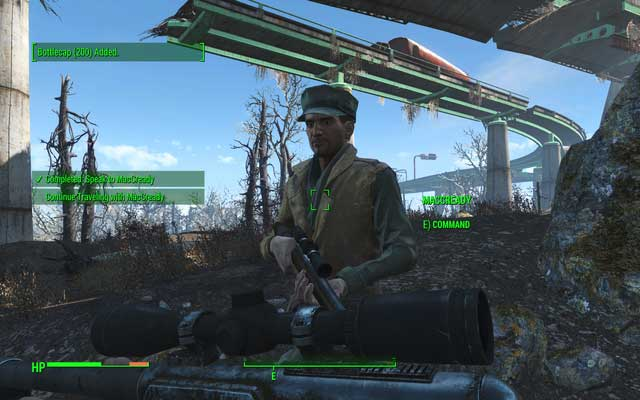 After killing the targets you must walk a bit with your friend and gain more of his approval - Long Road Ahead - MacCready - Minor quests for Institute faction - Fallout 4 Game Guide & Walkthrough