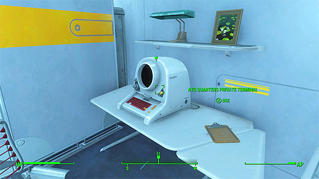 Terminal in Justin Ayos quarter - Plugging a Leak - Minor quests for Institute faction - Fallout 4 Game Guide & Walkthrough