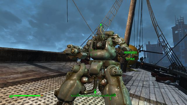 As soon as you approach USS Constitution, a robot will fly up to you and he starts a conversation - Last Voyage of the USS Constitution (USS Constitution) - Side quests in other locations - Fallout 4 Game Guide & Walkthrough