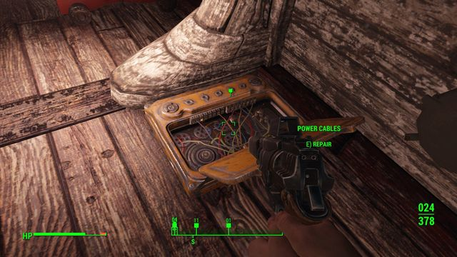 To restore the ships systems, you need to find three boxes with cables and fix the damaged bundles - Last Voyage of the USS Constitution (USS Constitution) - Side quests in other locations - Fallout 4 Game Guide & Walkthrough
