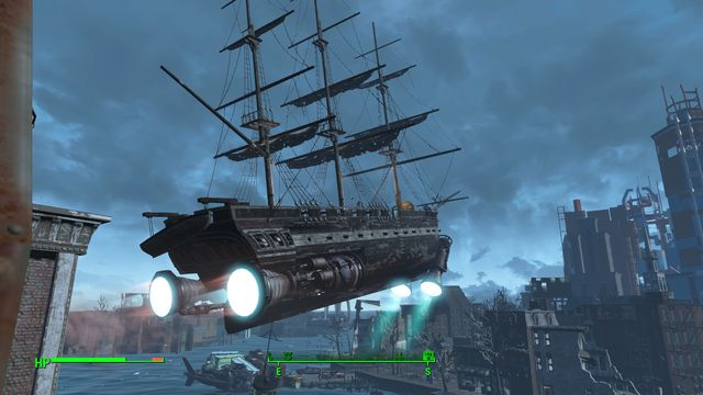 To start the ships engines, you need to supply sufficient amount of energy - Last Voyage of the USS Constitution (USS Constitution) - Side quests in other locations - Fallout 4 Game Guide & Walkthrough