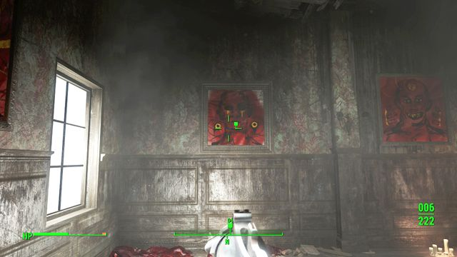 The safe is hidden behind the painting - Pickmans Gift (Pickman Gallery) - Side quests in other locations - Fallout 4 Game Guide & Walkthrough