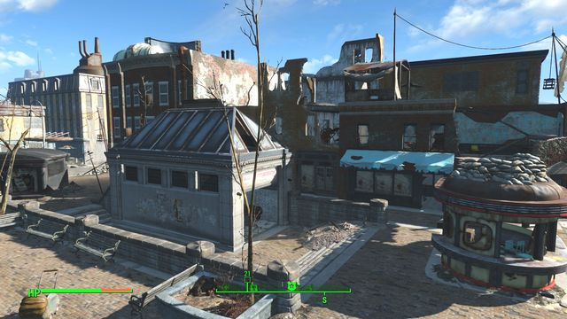 The towns main square has been seized by several groups of ghouls, who will be usually attacking you by surprise, a dozen-or-so enemies per wave - College Square - Cambridge - Sector 5 - Fallout 4 Game Guide & Walkthrough