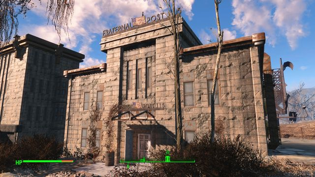 A quite big building close to the police precinct - Brotherhood Outpost 115 - Cambridge - Sector 5 - Fallout 4 Game Guide & Walkthrough