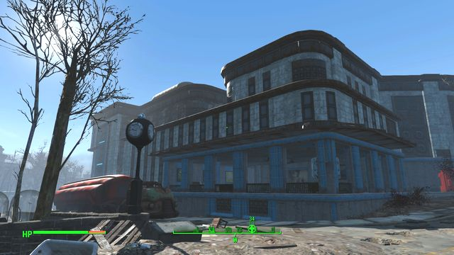 This building is an abandoned, and destroyed, hospital - Kendall Hospital - Cambridge - Sector 5 - Fallout 4 Game Guide & Walkthrough