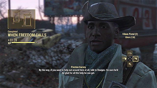 Meet with Preston Garvey in the Sanctuary - When Freedom Calls - Main story - Fallout 4 Game Guide & Walkthrough