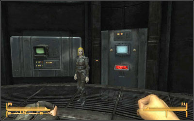 When you reach the bunker you will meet a Brotherhood Paladin - The House Always Wins, V - Mr. House - Fallout: New Vegas - Game Guide and Walkthrough