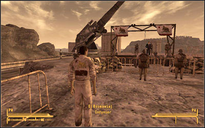 Watch the suspicious behavior of one of the Engineers, who will come a moment later after the president - Youll Know It When It Happens - President Kimball - Fallout: New Vegas - Game Guide and Walkthrough