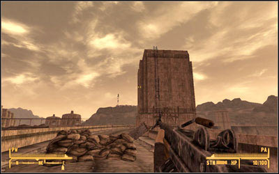 If your science perk is high enough [Science 50], you can break in to the terminal in the Visitors Center and gain some information about possible sniper attack - Youll Know It When It Happens - President Kimball - Fallout: New Vegas - Game Guide and Walkthrough