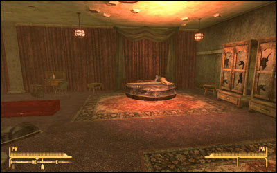 You will find him in his room but basically he will not give you any clues - How Little We Know - Side quests - Fallout: New Vegas - Game Guide and Walkthrough
