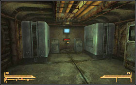 Being at the [entrance to the Vault 22] you can either fix the elevator (M16A:1) or take the stairs down (M16A:2) - I Could Make You Care - p. 1 - Side quests - Fallout: New Vegas - Game Guide and Walkthrough