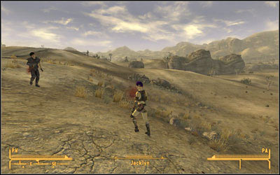 Wandering in the area outside the entrance to [Nipton] (MsF:18), you can find Tomas and Jacklyn - The Legend of the Star - Side quests - Fallout: New Vegas - Game Guide and Walkthrough