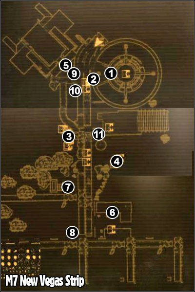 Fallout Las Vegas Map.M7 New Vegas Strip P 1 Maps Fallout New Vegas Game Guide
