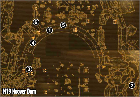 Fallout Las Vegas Map.M19 Hoover Dam Maps Fallout New Vegas Game Guide