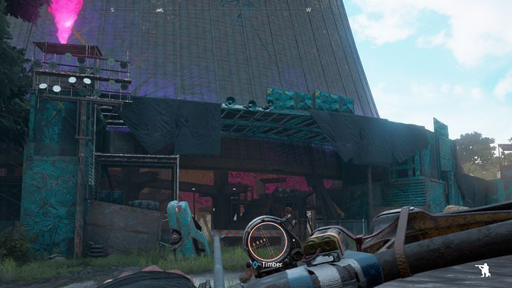 Bandits moving on scaffoldings are easy to miss. - Walking Horse Nuclear Plant - Expeditions in Far Cry New Dawn - Expeditions - Far Cry New Dawn Guide