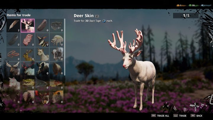 One of the ways to get crafting materials is to trade skins. - Crafting in Far Cry New Dawn - Game basics - Far Cry New Dawn Guide