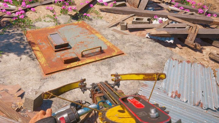 This place can be found at the same height as the Atelier Zion, but on the other side of the river - Audiophile - Far Cry New Dawn Walkthrough - Side Missions - Far Cry New Dawn Guide