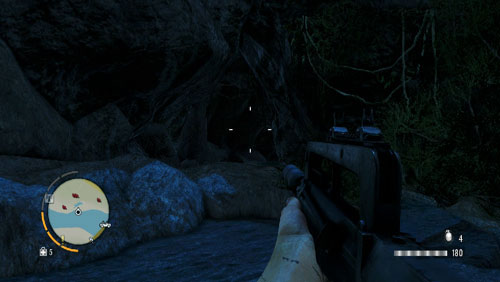 Reach the area marked with the red circle you will find an entrance to a flooded tunnel - The Southern Island - North-western part - Cult Objects - Far Cry 3 - Game Guide and Walkthrough