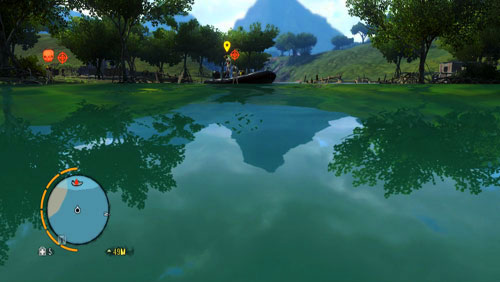 Swim up the river to approach the next objective of the mission - Dirty Work - Plot missions - Far Cry 3 - Game Guide and Walkthrough
