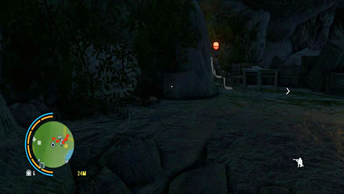 Get over to the left side of the cave, to end up behind the enemy on the chair (the screenshot) - Doppelganger - Main missions - Far Cry 3 - Game Guide and Walkthrough