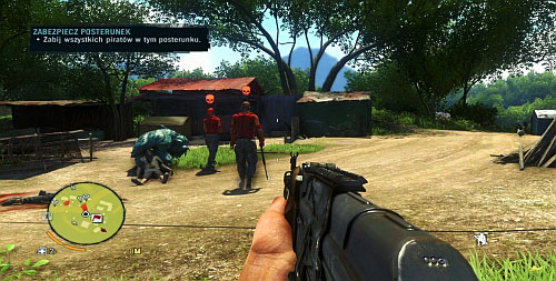 Wait now for the rest of the enemies to turn their backs at each other and try to take them out quietly, too - Secure The Outpost - Main missions - Far Cry 3 - Game Guide and Walkthrough