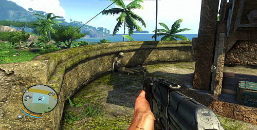 The next corpse can be found at the wall around the cannon, on the left[4] - Tagging the Past - Plot missions - Far Cry 3 - Game Guide and Walkthrough