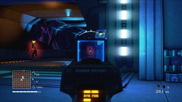 After opening the door you'll be attacked by enemy soldiers and robo dog - 4 - What is this shit? - Main missions - Far Cry 3: Blood Dragon - Game Guide and Walkthrough