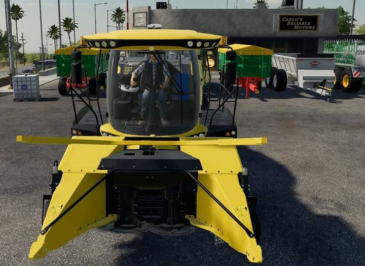 Forage harvester with a poplar header. - Poplars in Farming Simulator 19 - Wood - Farming Simulator 19 Guide and Tips