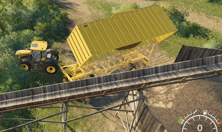 To sell the woodchips, travel to a selling point (in this case, a lumber mill) - Poplars in Farming Simulator 19 - Wood - Farming Simulator 19 Guide and Tips