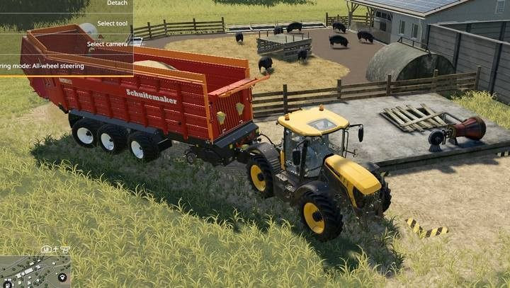 You can pour straw directly from the loading wagon at a marked point in the corner of the closure. - Pigs | Husbandry in Farming Simulator 19 - Husbandry - Farming Simulator 19 Guide and Tips