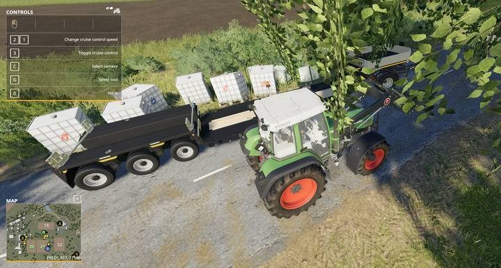 Goods placed on a low bed trailer have great stability while you are driving with them. This trailer also makes unloading easier. - How to fill a vehicles tank in Farming Simulator 19? - FAQ - Farming Simulator 19 Guide and Tips