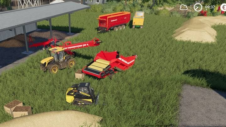 How does the belt system work in Farming Simulator 19