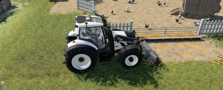 A shovel mounted to the tractor with front loader is sufficient for cleaning. - Chickens | Husbandry in Farming Simulator 19 - Husbandry - Farming Simulator 19 Guide and Tips