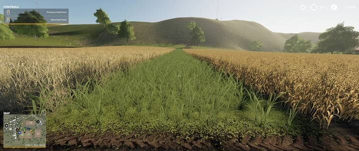A field before the merging process. - How to enlarge or merge fields in Farming Simulator 2019? - FAQ - Farming Simulator 19 Guide and Tips