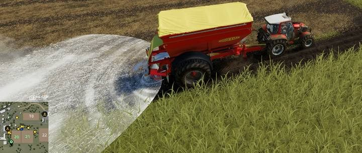 The new field, or a patch of a new field that have been merged from two different fields, must be fertilized with calcium. - How to enlarge or merge fields in Farming Simulator 2019? - FAQ - Farming Simulator 19 Guide and Tips