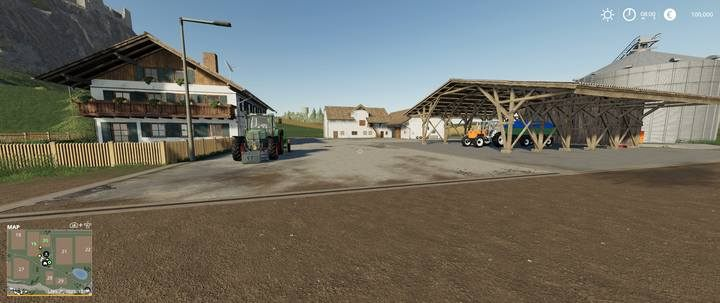 Starting area in Felsbrunn on easy difficulty level. - Difficulty Levels in Farming Simulator 19 - Tips and curiosities - Farming Simulator 19 Guide and Tips